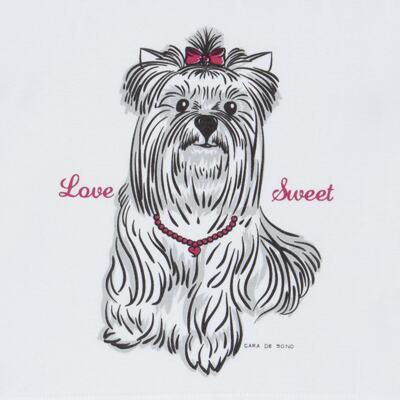 Imagem 3 do produto Pijama Curto em malha Cachorrinha - Cara de Sono - C2005 DOG LOVE C PJ-MG CURTA C/CALCA M/MALHA-2