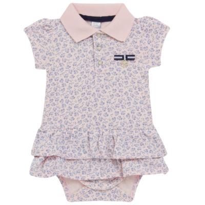 Imagem 1 do produto Body Vestido para bebe em malha Blue Flowers - Mini & Classic - 0410658 BODY VESTIDO POLO MALHA FLORAL NAVY -G