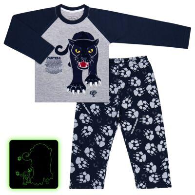Imagem 1 do produto Pijama longo que Brilha no Escuro Panther - Cara de Criança - L2289 PANTERA L PJ LONGO M/MALHA -1