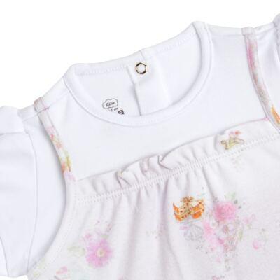 Imagem 2 do produto Macacão curto para bebe em algodão egípcio Claridge - Bibe - 39C06-G75 MAC FEM MC ESTA BULE-G