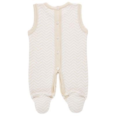 Imagem 5 do produto Jardineira c/ Body longo para bebê em tricot Nature Little Friends - Mini & Classic - 1606650 JARDINEIRA C/ BODY TRIC/SUED NATURE-RN