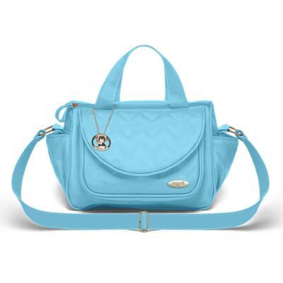 Imagem 4 do produto Mala Maternidade para bebe  + Bolsa Gênova + Frasqueira Térmica Nápoli + Trocador Portátil Chevron Turmalina - Classic for Baby Bags