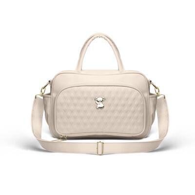 Imagem 2 do produto Kit Bolsa maternidade para bebe Veneza + Frasqueira Térmica Milão Golden Koala Caqui - Classic for Baby Bags