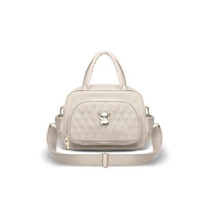 Imagem 3 do produto Kit Bolsa maternidade para bebe Veneza + Frasqueira Térmica Milão Golden Koala Caqui - Classic for Baby Bags
