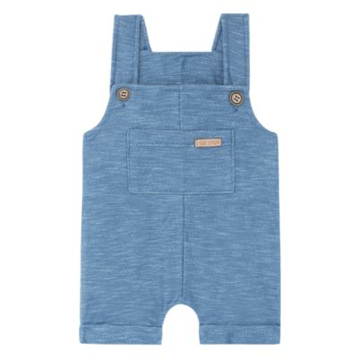 Imagem 1 do produto Jardineira para bebe em fleece Jeans Azul - Time Kids - TK5116.AZ JARDINEIRA JEANS AZUL-M