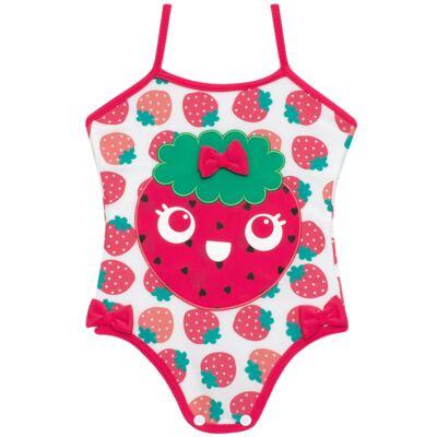 Imagem 2 do produto Conjunto de banho Strawberry: Maiô + Chapéu - Cara de Criança - KIT1-1253: MB1253 MAIO + CH1253 CHAPEU MORANGUINHO-P