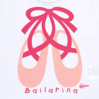 Imagem 3 do produto Conjunto de Banho Ballet: Camiseta + Biquíni + Tiara - Cara de Criança - KIT1-1268: BB1268 BIQUINI + CCAB1268 CAMISETA BAILARINA-P