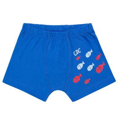 Imagem 2 do produto Kit com 2 Cuecas Boxer em malha Shark - Cara de Criança - KK2476 Kit Tubarao KK2 Kit Cueca 2 pçs M/Malha -P