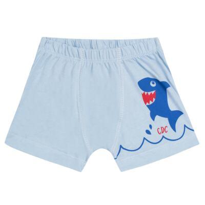 Imagem 3 do produto Kit com 2 Cuecas Boxer em malha Shark - Cara de Criança - KK2476 Kit Tubarao KK2 Kit Cueca 2 pçs M/Malha -P
