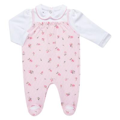 Imagem 2 do produto Jogo Maternidade com Macacão e Manta em algodão egípcio Flora - Bibe - 39Z06-G78 CJ MATERNIDADE FLORES-P