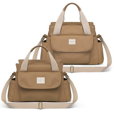 Imagem 1 do produto Bolsa maternidade para bebe St Remi + Frasqueira Térmica Provence Nácar Caramel - Classic for Baby Bags