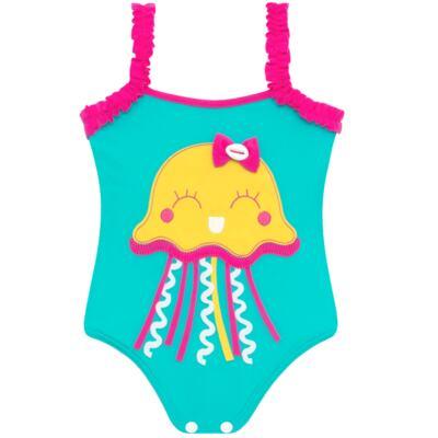 Imagem 2 do produto Conjunto de banho Jellyfish: Maiô + Chapéu - Cara de Criança - KIT1-1264: MB1264 MAIO + CH1264 CHAPEU AGUA VIVA-G