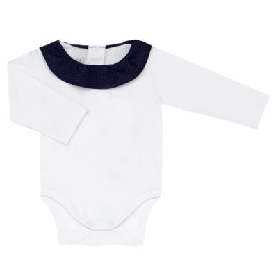 Imagem 4 do produto Jardineira com Body longo para bebe em tricot Love Sailor - Mini Sailor - 17354443 Jardineira Longa c/ Body Tricot Vermelho-NB