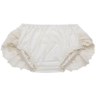 Imagem 2 do produto Calcinha para bebê em tricoline Renda & Laço Marfim - Roana - CLES0032031 Calcinha Especial Marfim-P