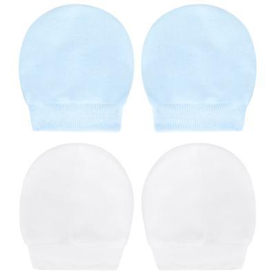 Imagem 1 do produto Kit 2 Pares de luvas em suedine Branca/Azul - Tilly Baby - TB13118.09 LUVA 2 PARES SUEDINE BRANCA/AZUL-RN