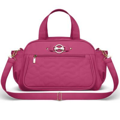 Imagem 4 do produto Mala Maternidade para bebe + Bolsa Liverpool + Frasqueira Térmica Melrose + Térmica Firenze + Trocador Laços Matelassê Pink - Classic for Baby Bags
