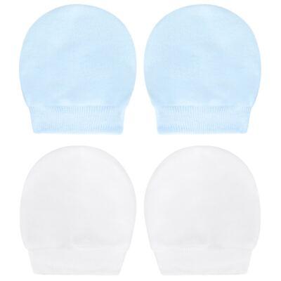 Imagem 1 do produto Kit 2 Pares de luvas em suedine Branca/Azul - Tilly Baby - TB13118.09 LUVA 2 PARES SUEDINE BRANCA/AZUL-P