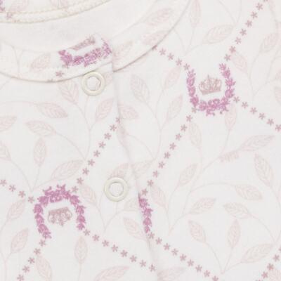 Imagem 2 do produto Body longo aberto para bebe em algodão egípcio Coroinhas - Bibe - 40A11-H10 BD ML AB FRENTE COROAS-RN
