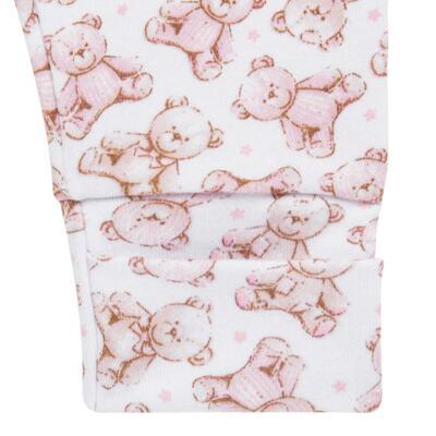 Imagem 3 do produto Pack 2 mijões com pé reversível para bebe em algodão egípcio c/ jato de cerâmica Princess Bear - Mini & Classic - 1025655 PACK 2 MIJOES SUEDINE URSA -P