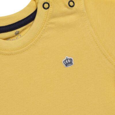Imagem 2 do produto Camiseta em malha Amarela - Mini & Classic - 6003672 CAMISETA MC MALHA AMARELA-1