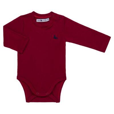 Imagem 1 do produto Body longo em cotton touch Vermelho - Mini Sailor - 01074263 BODY M/L BASICO SUEDINE VERMELHO -6-9