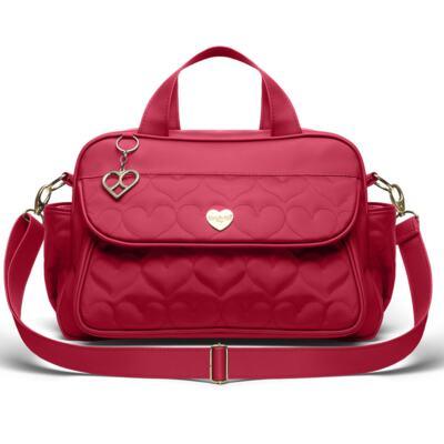 Imagem 2 do produto Bolsa maternidade para bebe Málaga  + Frasqueira Valência Corações Matelassê Vermelho -  Classic for Baby Bags