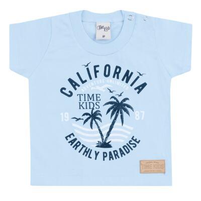 Imagem 2 do produto Camiseta com Bermuda para bebe California azul - Time Kids - TK5112.AZ CONJUNTO CAMISETA C/SHORTS PARADISE AZUL-P