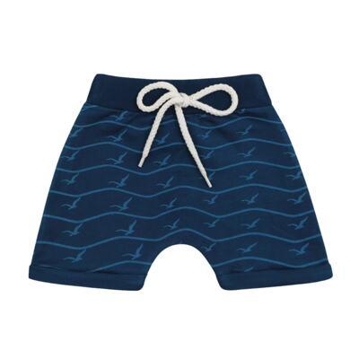 Imagem 3 do produto Camiseta com Bermuda para bebe California azul - Time Kids - TK5112.AZ CONJUNTO CAMISETA C/SHORTS PARADISE AZUL-P