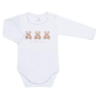Imagem 3 do produto Pack: 02 Bodies longos para bebe em algodão egípcio c/ jato de cerâmica Princess Bear - Mini & Classic - 1023655 PACK 2 BODIES ML SUEDINE URSA-P
