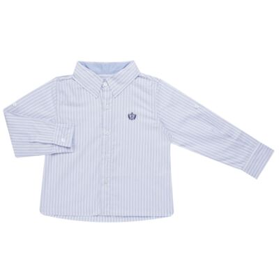 Imagem 1 do produto Camisa para bebe em tricoline Stripes - Bibe - 38N02-G70 CAMISA MASC ML -2