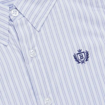 Imagem 2 do produto Camisa para bebe em tricoline Stripes - Bibe - 38N02-G70 CAMISA MASC ML -2