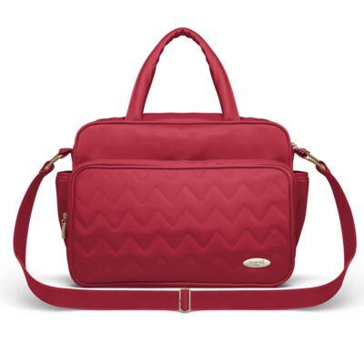 Imagem 3 do produto Mala Maternidade para bebe + Bolsa Turin + Frasqueira Térmica Trento + Térmica Firenze + Kit Acessórios Chevron Rubi - Classic for Baby Bags