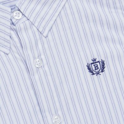 Imagem 2 do produto Camisa para bebe em tricoline Stripes - Bibe - 38N02-G70 CAMISA MASC ML -4