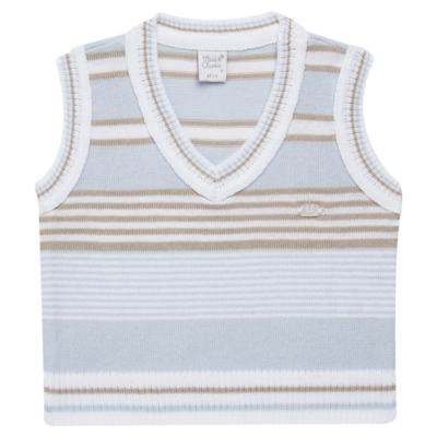 Imagem 1 do produto Colete para bebe em tricot Stripes  - Mini & Classic - 4508656 PULOVER LISTRADO TRICO URSO-M