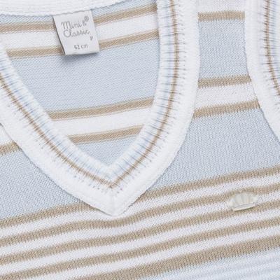 Imagem 2 do produto Colete para bebe em tricot Stripes  - Mini & Classic - 4508656 PULOVER LISTRADO TRICO URSO-M