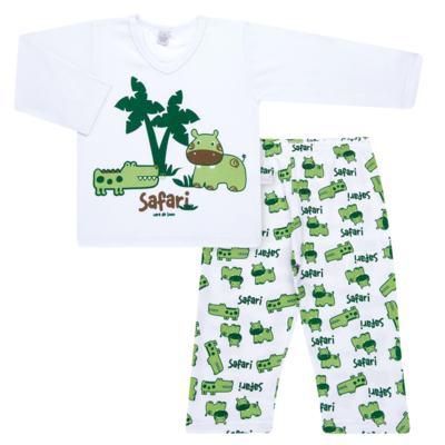 Imagem 1 do produto Pijama longo em malha Safari - Cara de Sono - L2456 SAFARI L PJ-LONGO M/MALHA-3