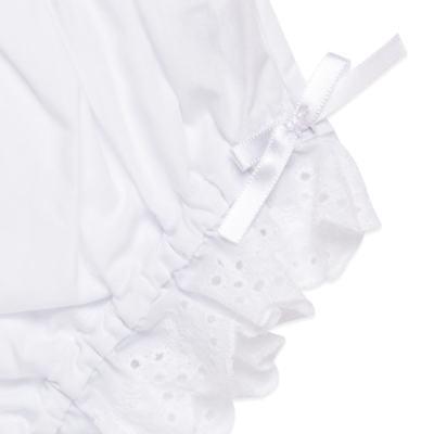 Imagem 2 do produto Calcinha para bebê em tricoline Lacinhos Branca - Roana - CLA00003001 Calcinha Lese Laço Branca-G