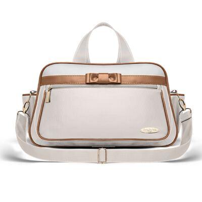 Imagem 4 do produto Kit Mala Maternidade + Bolsa Viagem Oxford + Frasqueira Térmica Kent + Kit Acessórios + Trocado Portátil Laço Caramel Caqui - Classic for Baby Bags