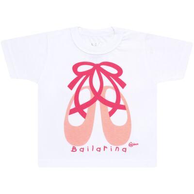 Imagem 2 do produto Conjunto de Banho Ballet: Camiseta + Biquíni + Tiara - Cara de Criança - KIT1-1268: BB1268 BIQUINI + CCAB1268 CAMISETA BAILARINA-M