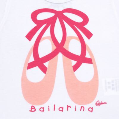 Imagem 3 do produto Conjunto de Banho Ballet: Camiseta + Biquíni + Tiara - Cara de Criança - KIT1-1268: BB1268 BIQUINI + CCAB1268 CAMISETA BAILARINA-M