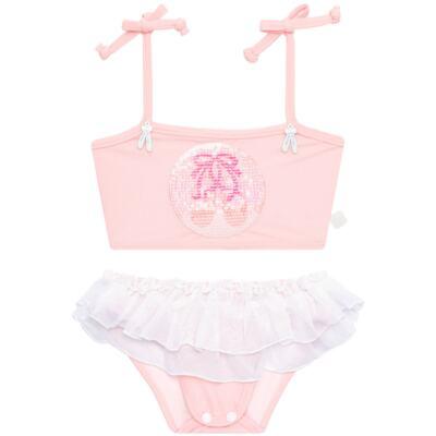 Imagem 4 do produto Conjunto de Banho Ballet: Camiseta + Biquíni + Tiara - Cara de Criança - KIT1-1268: BB1268 BIQUINI + CCAB1268 CAMISETA BAILARINA-M