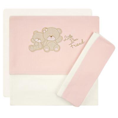 Imagem 1 do produto Jogo de lençol para berço em malha Ursinha - Classic for Baby - JLB1503 JOGO DE LENÇOL MALHA URSA