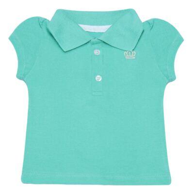 Imagem 1 do produto Polo para bebe em piquet Soft Green - Baby Classic