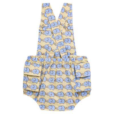Imagem 2 do produto Jardineira para bebe em tricoline Little Elephant - Roana - JB000883005 JARDINEIRA BABY 4320 BEGE-P