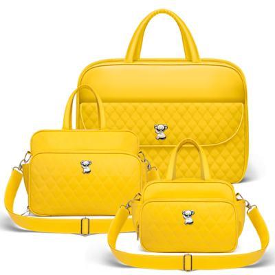 Imagem 1 do produto Kit Mala Maternidade + Bolsa Montserrat + Frasqueira Térmica St. Marteen Colors Yellow - Classic for Baby Bags
