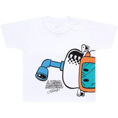 Imagem 2 do produto Conjunto de Banho Maluquinho Mergulhador: Camiseta + Sunga - Cara de Criança - KIT1-1308: SB1308 SUNGA + CCA1308 CAMISETA PIRATA MALUQUINHO-6