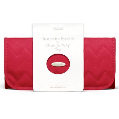 Imagem 5 do produto Bolsa maternidade para bebe Gênova + Frasqueira Térmica Nápoli + Trocador Portátil Chevron Rubi - Classic for Baby Bags