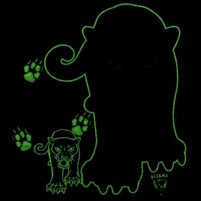 Imagem 5 do produto Pijama longo que Brilha no Escuro Panther - Cara de Criança - L2289 PANTERA L PJ LONGO M/MALHA -3