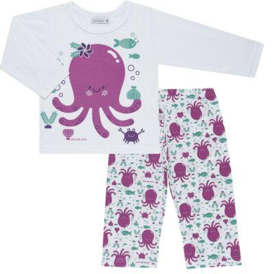Imagem 1 do produto Pijama longo em malha Polvinha - Cara de Sono - L1994 POLVA L PJ-LONGO M/MALHA -4