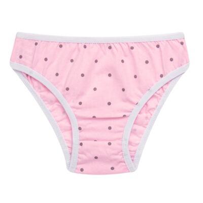 Imagem 2 do produto Kit com 3 Calcinhas Pink Polka Dots - Cara de Criança - KC2403 KIT POA KC3 KIT CALCINHAS 3 PCS M/MALHA-P